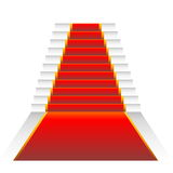 Red elegant stairs Royalty Free Stock Images