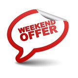 Red  element bubble weekend offer Stock Photo