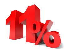 Red eleven percent off. Discount 11%. Stock Photos