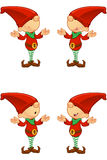 Red Elf - confused vector illustration