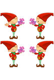 Red Elf - Holding Present Stock Photography
