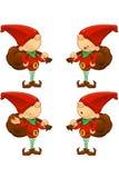 Red Elf - Holding Sack Stock Photo