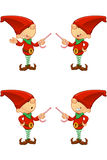 Red Elf - Pointing With Candy Royalty Free Stock Image