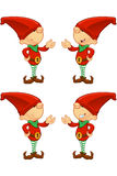 Red Elf - Presenting Royalty Free Stock Images