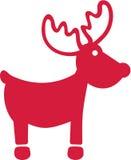 Red elk icon Stock Photo