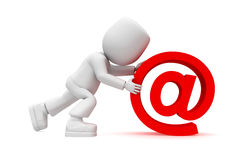 Red email!!! Royalty Free Stock Images