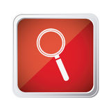 Red emblem agnifying glass icon. Illustraction design Stock Images