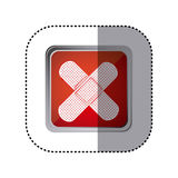 Red emblem aid band icon. Illustration design Stock Photos