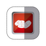 Red emblem drugs medications. Illustration design Stock Image
