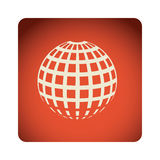 Red emblem global planet icon. Illustraction design Royalty Free Stock Image