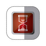 Red emblem hourglass cursor. Illustration design Stock Photography