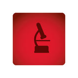 Red emblem microscope icon. Illustraction design image Royalty Free Stock Images