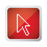 Red emblem mouse cursor icon. Illustraction design Royalty Free Stock Images