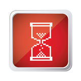 red emblem mouse hourglass cursor icon Royalty Free Stock Photography