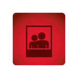 Red emblem people picture icon. Illustraction design Royalty Free Stock Images