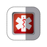 Red emblem star medicine sign. Illustration design Stock Photography