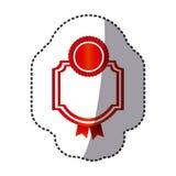 Red emblem with symbols inside icon. Illustraction design Stock Images