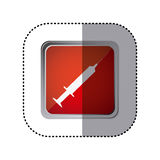 red emblem syringe icon Stock Photos