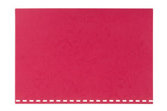 Red embossed cardboard sheet torn from a notebook, isolated Royalty Free Stock Photography