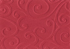 Red embossed paper. On white background Stock Photography