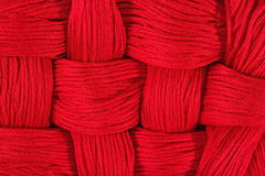 Red embroidery floss  background Stock Images