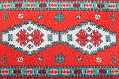 Red embroidery patterns Royalty Free Stock Photography