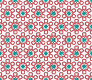 Red and emerald colors snow flake Christmas paper Royalty Free Stock Images