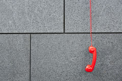 Red emercency call phone Royalty Free Stock Photo
