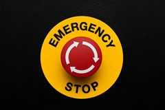 Red emergency button royalty free stock photography