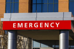 Red Emergency Entrance Sign for a Local Hospital XIV. Red Emergency Entrance Sign for a Local Hospital Royalty Free Stock Images