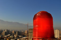Red emergency lantern Stock Images