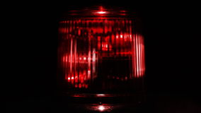 Red emergency light. Close up. stock footage