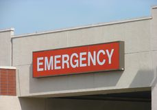 Red Emergency Sign Royalty Free Stock Image