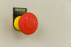 Red emergency stop and reset. Royalty Free Stock Photography