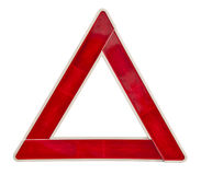 Red emergency triangle with clipping path Royalty Free Stock Images