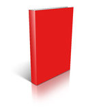 Red empty book template Stock Photos