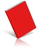 Red empty book template Stock Image