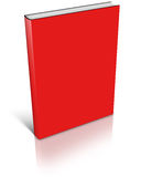 Red empty book template Royalty Free Stock Image