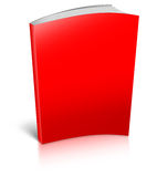 Red empty book template Royalty Free Stock Photography