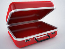 Red empty briefcase. 3d high quality render Stock Photos