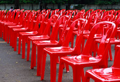 Red Empty Chairs Royalty Free Stock Photography
