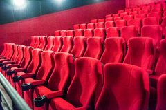 Red empty cinema hall Stock Images