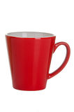 Red empty cup of tea (coffee) Stock Photography