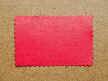 Red empty paper with old photo frame border. Royalty Free Stock Photography