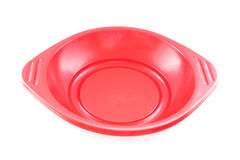 Red empty plastic food tray Royalty Free Stock Image