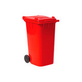 Red empty recycling bin Royalty Free Stock Images