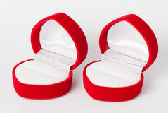 Red Empty Ring Case Stock Image