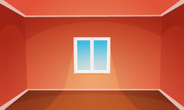 Red Empty Room Royalty Free Stock Photos