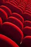 Red empty seats Royalty Free Stock Image