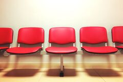Red Empty Seats Stock Photography